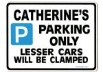 CATHERINE'S Personalised Parking Sign Gift | Unique Car Present for Her |  Size Large - Metal faced